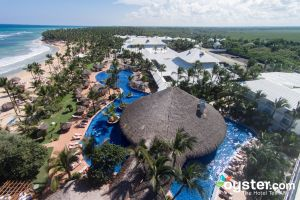 Aerial View of Excellence Punta Cana's Swim-Up Bar