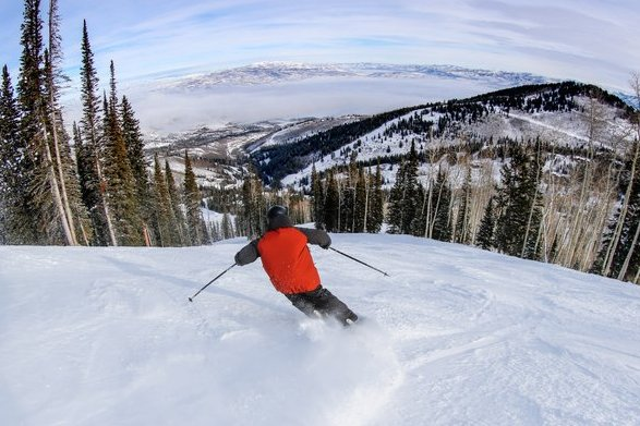 Dreamcatcher ski trail in Park City. Photo credit: Abby Hein