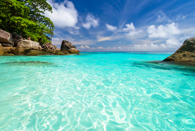 Turquoise waters of the Similan Islands; Image courtesy Ajith Kumar via Flickr