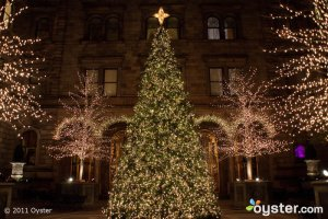 Christmastime in the Courtyard of The New York Palace