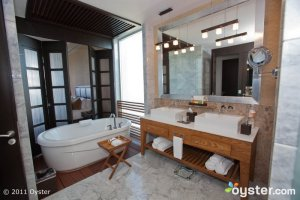 The bathroom in a one-bedroom suite at the Grand Luxxe; Puerto Vallarta, Mexico