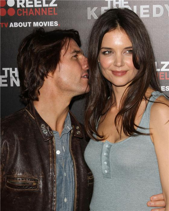 Tom Cruise and Katie Holmes in happier times -- although it looks like she already had her eye on the exit. Photo Credit: Norman Scott/startraksphoto.com