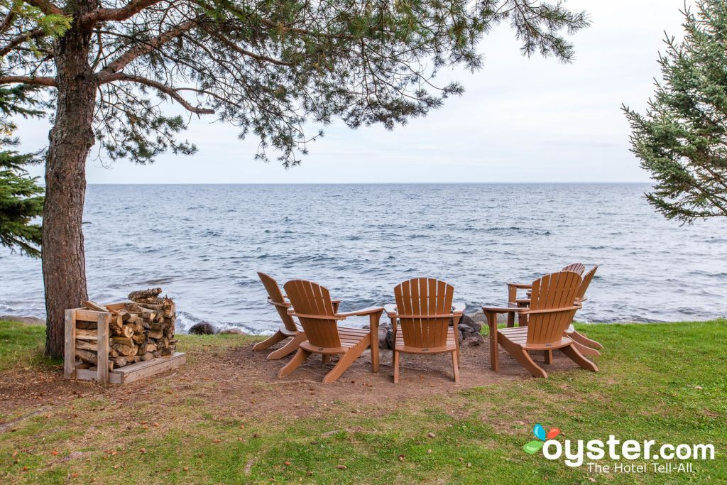 Grounds at the Larsmont Cottages on Lake Superior