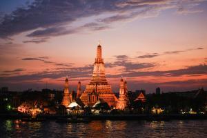 Wat Arun at Sunset in Bangkok