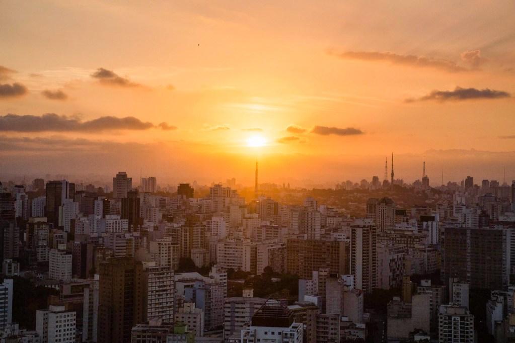 Sunset in Sao Paulo