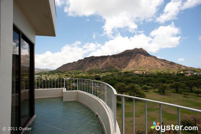 La vue depuis un balcon privé au Lotus à Diamond Head; Oahu, HI