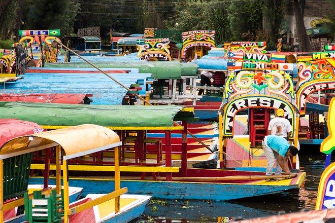 Die Kanäle von Xochimilco, in der Stadt Süd / Oyster