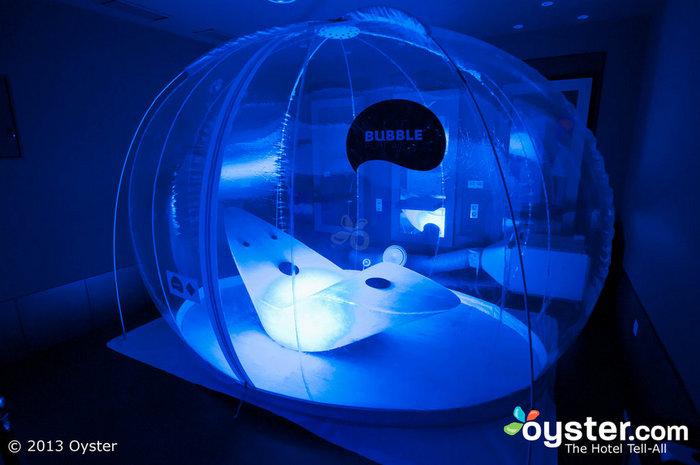 A experiência do Sparience Oyxgen Bubble é redutora de estresse.