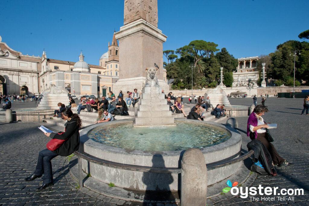 Piazza del Popolo, Rom / Auster