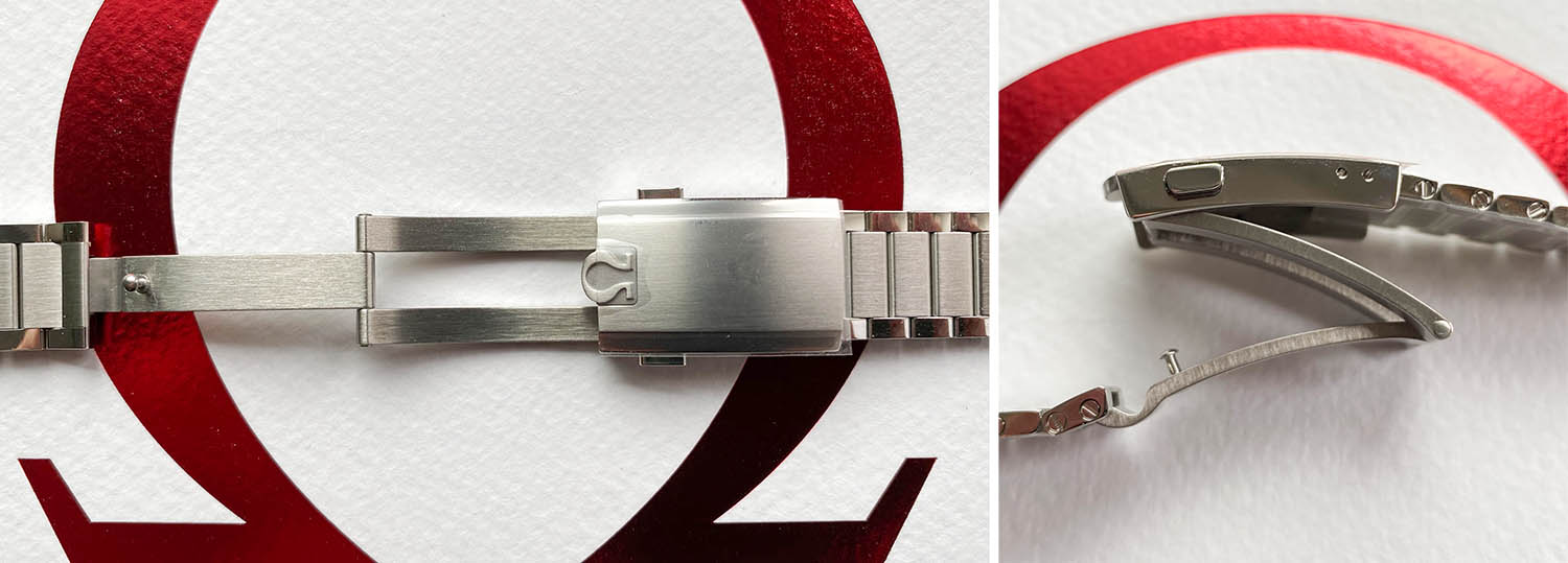 Clasp of the Omega Speedmaster Moonwatch Apollo 11 50th Anniversary