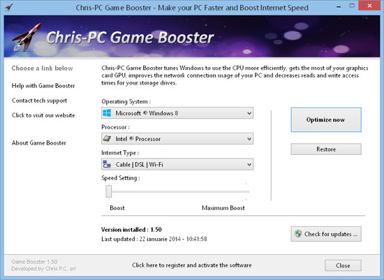 Chris-PC Game Booster PC