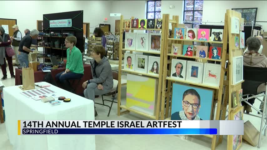 Artists Show Off Work to Big Crowds at Temple Israel Artfest_84167160