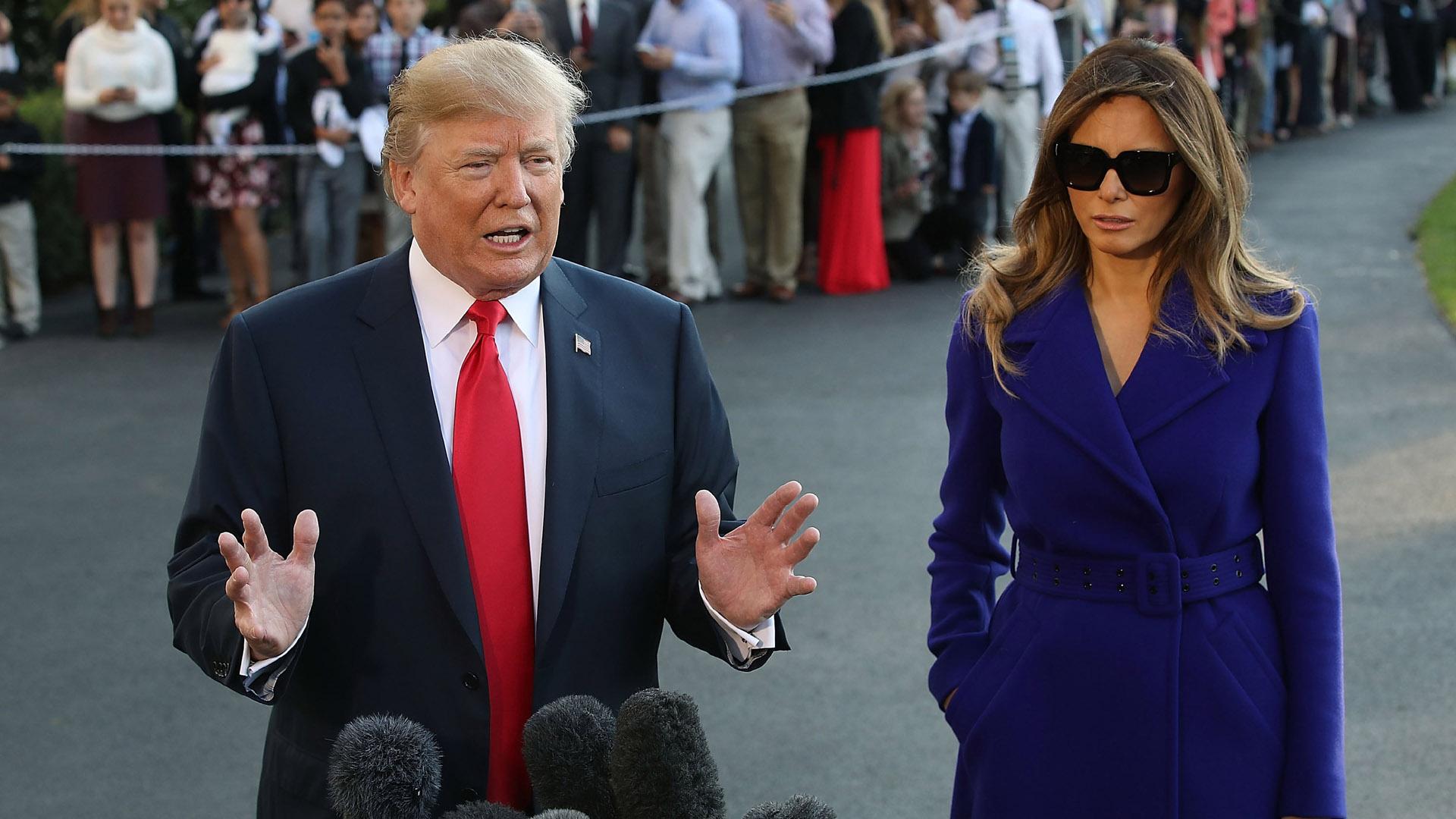 Donald Trump, Melania Trump  in DC, before departing to Asia46963378-159532