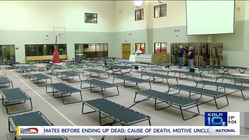 Church Opens its Doors to Homeless During Cold Weather_80642954