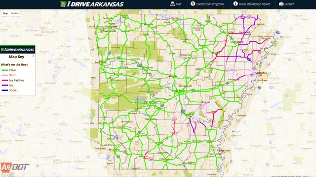 Check Road Conditions in Arkansas