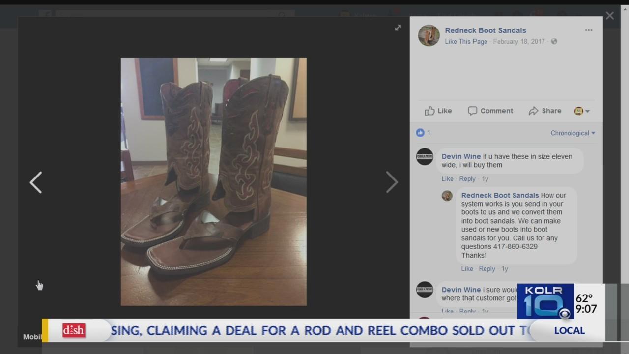 redneck boot sandals is