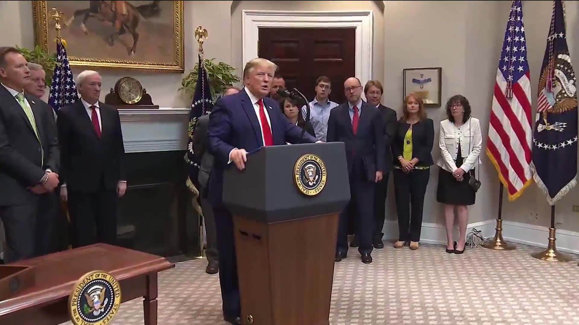 President Trump talking