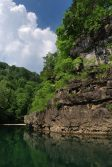 Photograph of a Bluff on Jacks Fork river the Ozark National Scenic Riverway.
