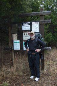 Gary at the Coy Bald Trail trail head