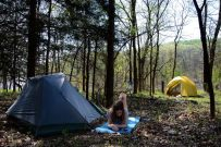 Camped near the shore of Table Rock Lake, Piney Creek Wilderness - Spring 2012