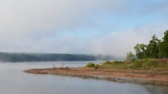 Early morning mist on Harry S Truman Lake, Missouri
