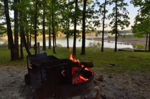 Evening Campfire, Berry Bend Campground, Harry S Truman Reservoir