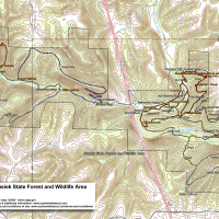 Trail Map: Busiek State Forest and Wildlife Area