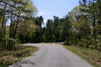 Photograph of the entrance to the Piney Creek Tower (Pineview) Trailhead off Farm Road 2150.