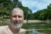 Cooling off in a pool on Woods Fork