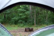 View from the tent - rain