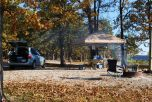 Smoking campfire and cooking breafast at Berry Bend Campground Harry S Truman Lake