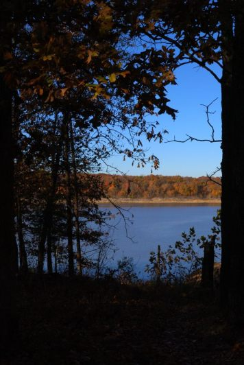 View across Harry S Truman Lake from Berry Bend Campground