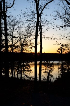 Sunset on Harry S Truman Lake at Berry Bend