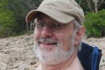 Gary Allman sitting by Table Rock Lake at Big Bay Campground