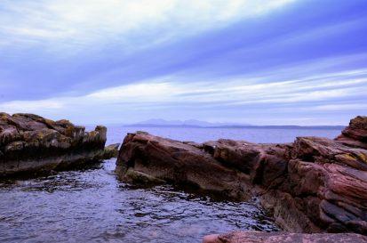 Looking towards the islands - Near Knock Castle, Largs