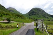 The saddle of Lairig Gartain as seen from Glen Etive