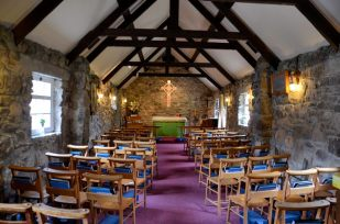 Photograph of the inside of St Maelrubha's Scottish Episcopal church at Poolewe, Scotland