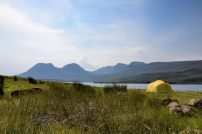 Our Mutha Hubba tent camped alongside Loch Bad a'Ghaill