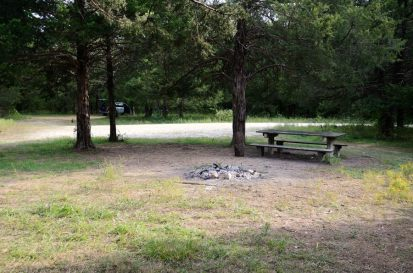 Second campsite at the Coy Bald Trailhead