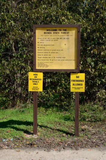 Busiek East Parking Lot Sign