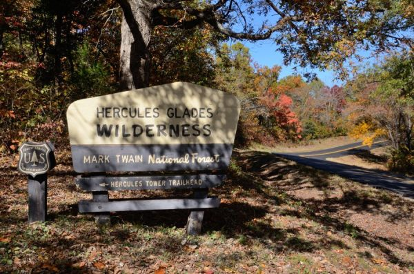 Hercules Glades Wilderness - Entrance to the Hercules Tower Trail