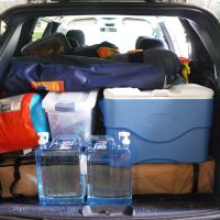 Packing for car camping - we are organized!