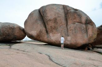 If you think that boulder is big, think about the one I'm standing on
