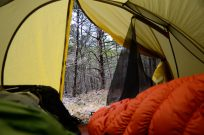 View from our tent - North of Lower Pilot Knob - Hercules Glades