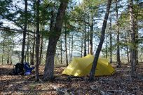 Camped near the bluffs on Hercules Glades Wilderness