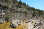 Lunch break at the Bluffs by Long Creek (looking up-stream)