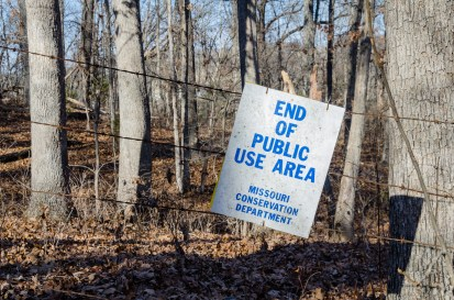 End of Public Use Area - Compton Hollow Conservation Area
