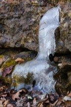 Ice fall by the silver trail at Busiek