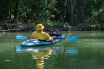 Ascend D10 Kayak on the James river above Lake Springfield