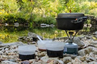 MSR Pocket Rocket & GSI Pinnacle 1.5 Liter pot - Morning coffee and hot chocolate by Long Creek